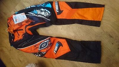 Oneal Mayhem Orange And Black Motocross Trousers Clothing Bottoms  Sizes 27 30