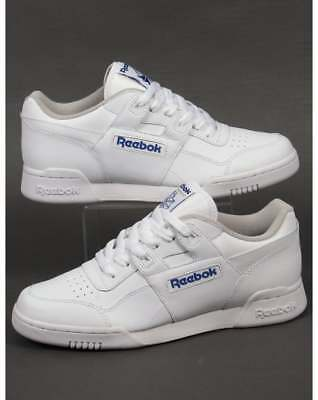 Reebok Workout Plus Trainers in White - classic H Strap soft full grain leather