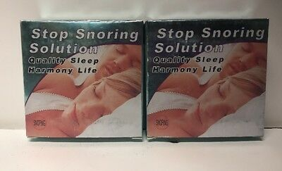 Pack Of 2 Stop Snoring Mouthpiece Apnea Aid Sleep Anti Snore Grind Mouth Guard