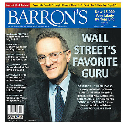 Barron's Magazine 1 Year (52 issues) Print (New Customer Only)
