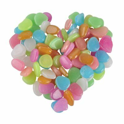 Glow in the Dark Garden Pebbles for Walkways and Decor  Garden in Colorful Color