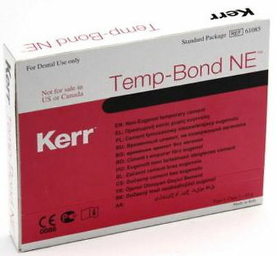 Dental Kerr Temp Bond NE - Non Eugenol Temporary Cement