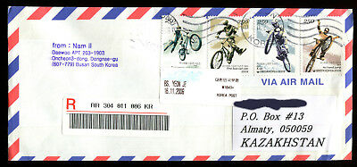 Vietnam - KAZAKHSTAN: Front cover with cancelled stamps on envelope used