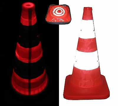 IVG Collapsible Safety Cone Illuminated Road Traffic Signs Portable Essential