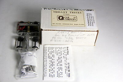 O Scale Q Car Co. Powered Truck w/ Trailer Type 89E1 Brill with Underbody Parts