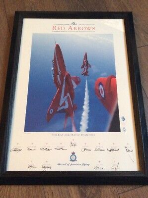 Red Arrow photograph signed by 9 pilots Plus Manager Etc