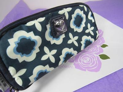 Brighton PACK-IT BLUE / WHITE OCTAVIA  Cosmetic Travel Bag Case Pouch   NWT