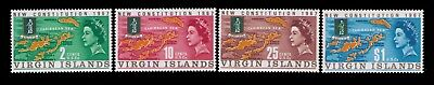 1967 Virgin Islands stamps,Map and Seal of  Virgin Islands SC# 179-82 MNH set