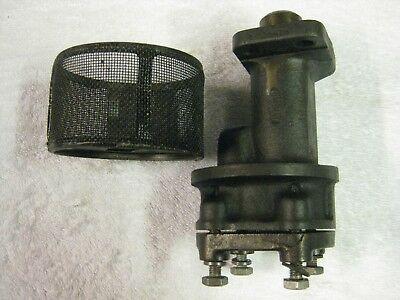1948 Triumph Roadster 1800 engine oil pump and filter
