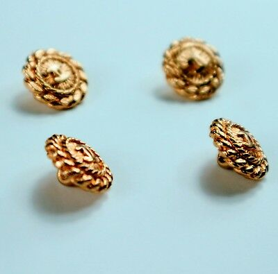Authentic 4 Chanel Gold tone Buttons 5mm Round