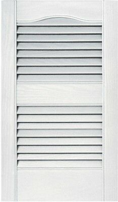 Exterior Shutters 15 in. x 25 in. Louvered Vinyl #117 Bright White Pair New