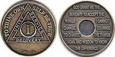 Alcoholics Anonymous Bronze Sobriety Coins