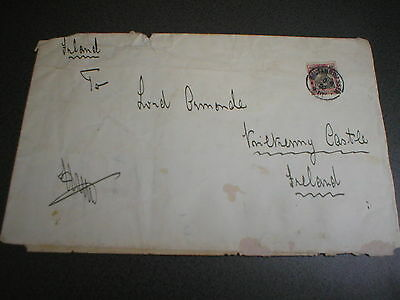 1902 Lord Ormonde, Kilkenny Castle, Ireland, Envelope, from Prince Henry Prussia