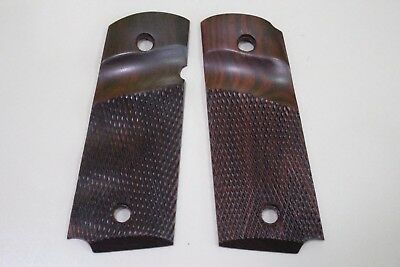 COLT 1911 GRIPS KIMBER COMPACT OFFICER DEFENDER Checkered Man xmas gift # COM4