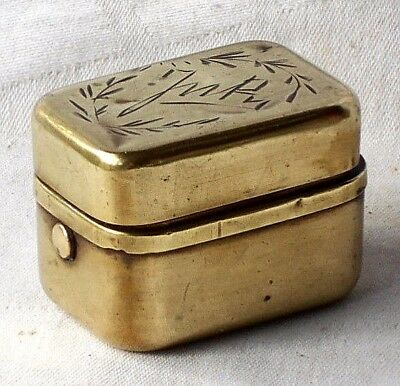 Edwarian Brass Travelling Inkwell