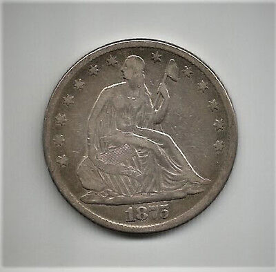 1875 Seated Liberty Half Dollar KM# A99 Great Type Coin