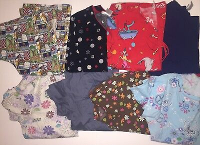 Cherokee Dickies NRG Scrubs Lot Size XS S M Women's Multi Color Print Tops Pants