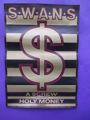 Swans A Screw Holy Money ORIGINAL 1986 UK PROMO POSTER indie industrial