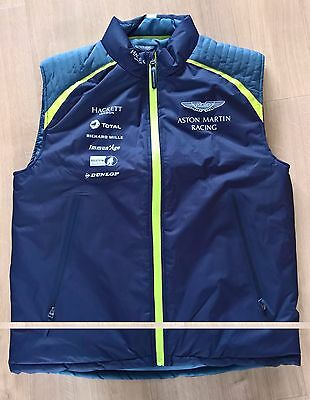 NEW 2017 ASTON MARTIN RACING TOTAL TEAM GILET Size = EXTRA LARGE  Le MANS
