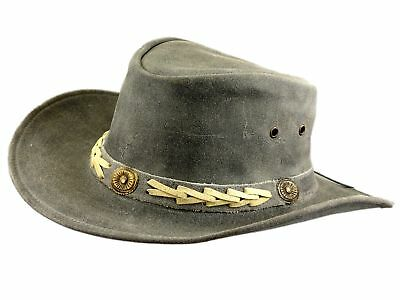Thor Equine Leather Hat Cowboy Hat Western Hat, Old Grey, S-XL