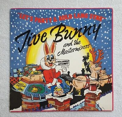 """JIVE BUNNY AND THE MASTERMIXERS ~ Lets Party / Auld Lang Syne ~ 12"""" Single"""
