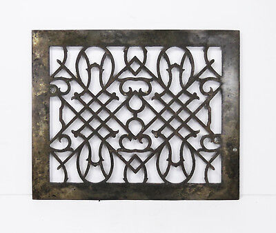 "Antique Cast Iron Wall Register Owls Grille Grate Vent Victorian Fits 8""x10"""