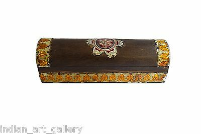 Vintage Highly Decorative Wooden Box Beautiful Handmade. G43-112