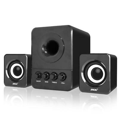 USB Stereo Computer PC Speakers 2.1 Bass Loud Speaker 3.5mm with Subwoofer