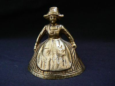 Brass Lady Bell Dutch Girl With Apron