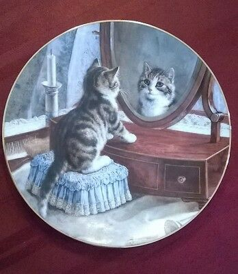 W. S. George Victorian Cat Capers Collectors Plate Kitten Numbered First Issue