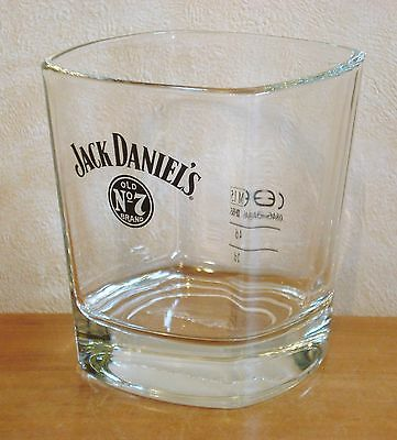 Jack Daniel's Large Square Whisky Glass Tumbler 2cl / 4cl Pub Home Bar