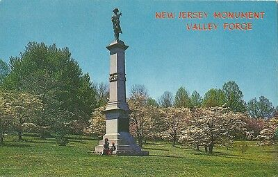 Postcard New Jersey Monument Valley Forge Pennsylvania