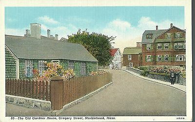 Postcard Old Gardner House Gregory St Marblehead Mass