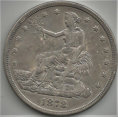 1878-S U.S. Silver Trade Dollar KM# 108 Seated Liberty Great Type Coin