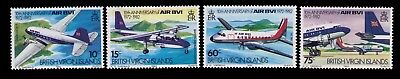 1982 Virgin Islands stamps,10th Anniv. of BVI Air Sc# 434-7 Cpl.MNH set,CV:$6.00