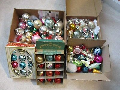 Lot of 96 Vintage Glass Christmas Bulbs Shiny Brite/W Germany/Rauch Made in USA