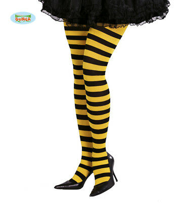 Adult Womens Black And Yellow Bumble Bee Tights