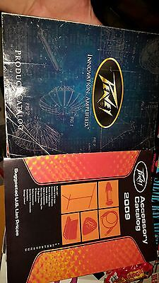 2 PEAVEY AMP GUITAR BASS PA  RACK GEAR CATALOG Price list lot FREE USA SHIPPING
