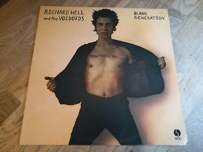 Richard Hell & the voidoids LP Blank generation UK Sire 1st press +++++