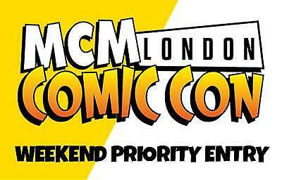 London Comic Con 2017 October Weekend Priority Ticket 27th - 29th