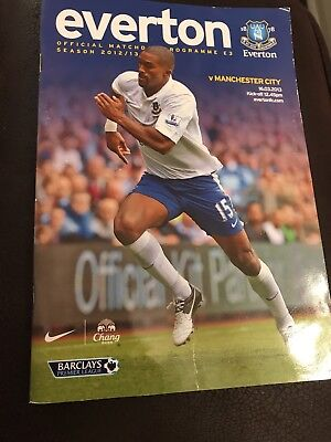 Everton Vs Manchester City Programme