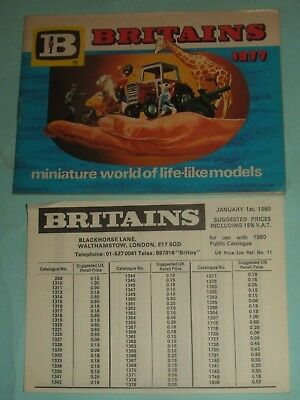 Britains Catalogue 1977 With Price List.