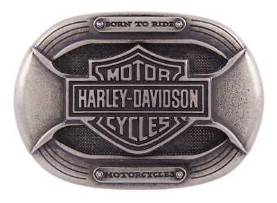 Harley-Davidson Men's Parts Belt Buckle, Antique Nickel Finish HDMBU11399