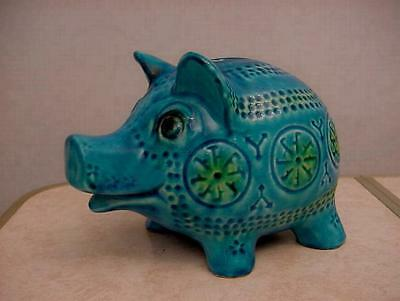 Vintage Pottery Piggy Bank / Money Box - JEMA PIG - Holland - Bitossi Bull Style