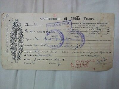 State Bank Of Pakistan Govt Of India Loans   Ad1.13
