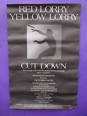 Red Lorry Yellow Lorry Cut Down ORIGINAL 1986 UK PROMO POSTER goth the mission