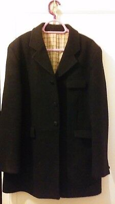 MENS SHIRES CLIFTON HUNT COAT MENS 100% WOOL THICK WARM HUNTING JACKET size 42