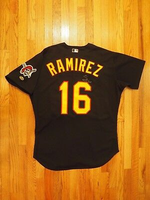 Aramis Ramirez Game Used Worn AUTO 2001 Pittsburgh Pirates Jersey Stargell Patch