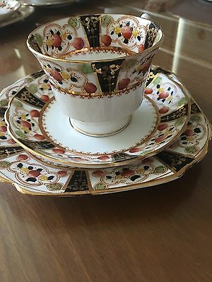 Heavily Reduced! One set Melba Bone China trio cup, saucer, plate. Excellent.