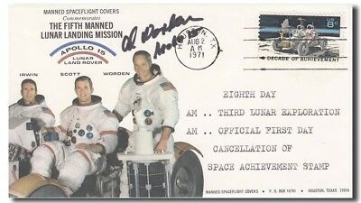 Alfred Worden handsigned Apollo 15 cover - 7f186